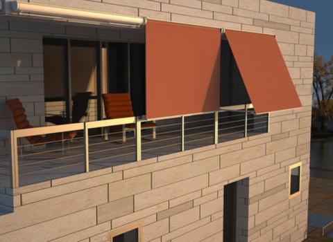 Vertikalna balkonska tenda